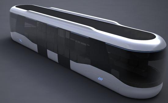 这款未来车概念由设计师Andrew设计。纵观整车,深色车窗占据整个车身的1/3,但内部采光却非常好。最突出特点就是,采用全电脑系统控制机车,不需要死机驾驶,同时控制车内灯光照明,包括上下车门开启等;此外车内提供专供残障人士装用设施和作为。